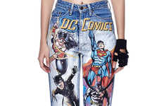 Painted Superhero Jeans - These Printed Denim Pants are Inspired by Pop Culture