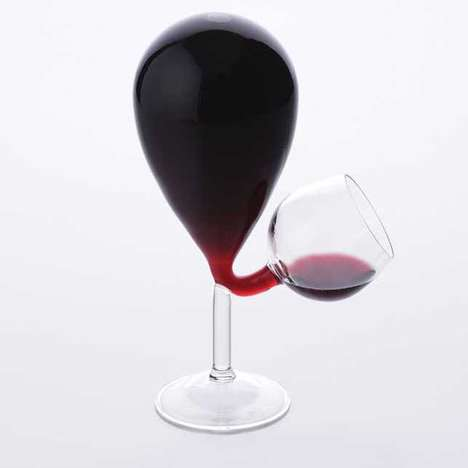 Balloon-Inspired Wine Glasses - The Glass Tank Wine Glass Perfectly Aerates a Bottle of Red Wine