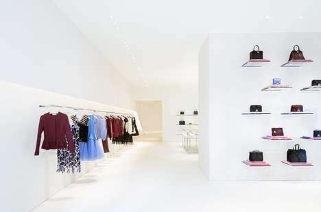 Pristine Minimalist Boutiques - The First Christopher Kane Flagship Store Recently Opened in London