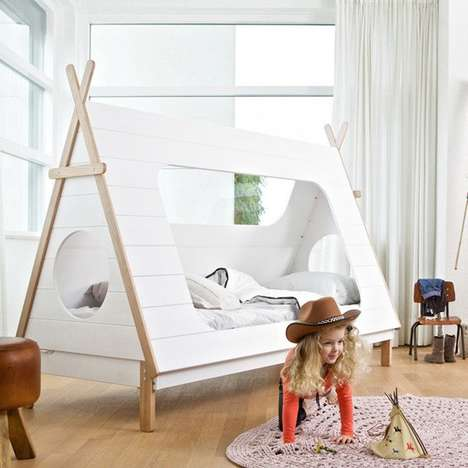 Wooden Teepee Beds - The Teepee Cabin Bed is Perfect for a Any Miniature Cowboy or Cowgirl