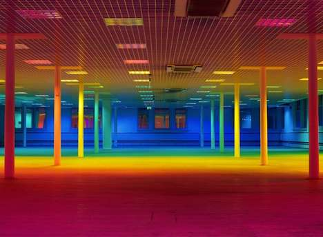 Colorful Luminous Installations - This Light Installation by Artist Liz West is a Sensory Experience
