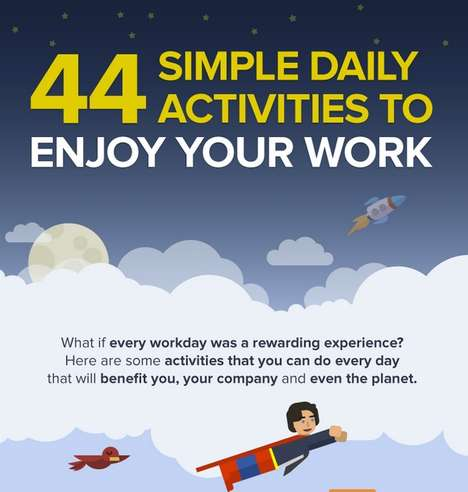 35 Infographic-Based Creativity Tips - From Work Productiveness Charts to Beneficiary Reading Stats