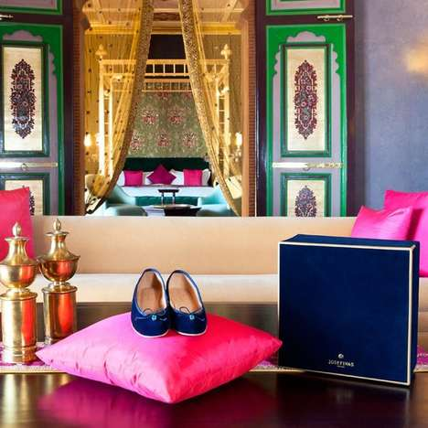$4,000 Ballet Slippers - The Josefinas Blue Persian Salt is the Most Costly Ballet Flat in the World