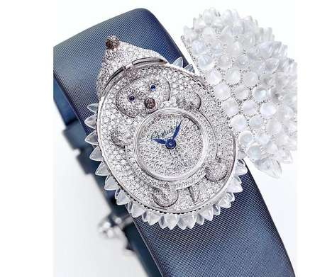 Discreet Diamond Timepieces - The Hedgehog Watch by Chopard Hides the Animal Under a Pearl Casing