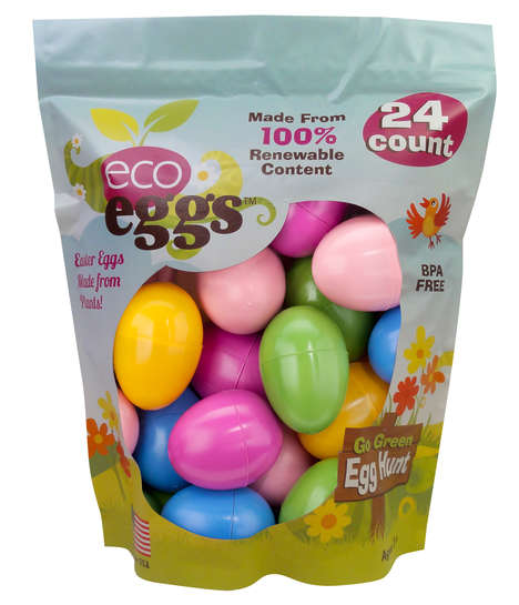 Eco-Friendly Easter Eggs - Eco Eggs Are Wrapped in a Renewable Plant-Based Casing