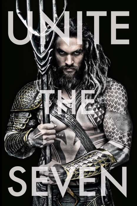 Live-Action Superhero Portraits - Jason Momoa is Revealed in His Aquaman Costume by Zack Snyder