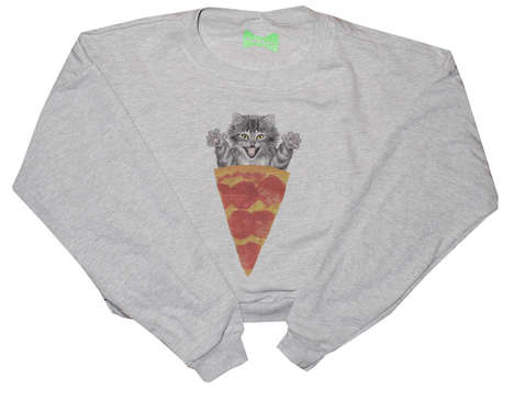 Delectable Feline Sweaters - The Pizza Cat Sweater Combines All of Your Favorite Things