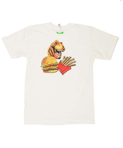 Jurassic Beef T-Shirts - The Snack Attack T-Shirt Features a Hungry Dino