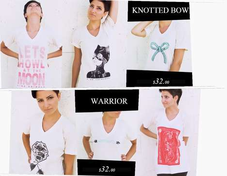 Artistic T-Shirt Webshops - The Neopolitan Clothing Website Highlights The Brand's Artful Vision