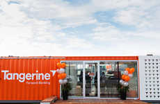 Bank Branch Pop-Ups - Tangerine's Convenient Bank Branch Pop-Up Wins Over New Customers