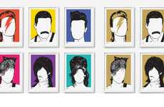 Minimalist Pop Culture Art - Bold & Noble's Rock Royalty Paintings Celebrate Musical Icons