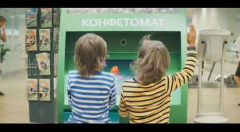 Educational Candy ATMs - The Sberbank Candy ATM Entertains Children While Parents Bank