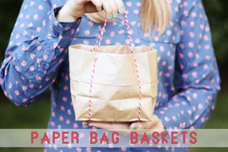 Eco-Friendly DIY Baskets - Melissa Bahen of Lulu the Baker Adorably Repurposes Paper Bags