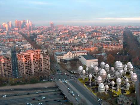 Egg-Shaped Towers - Planning Korea Envisions Egg-Shaped Architecture For the City of Paris
