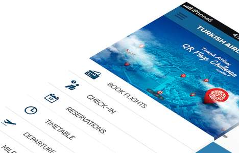 User-Friendly Flight Apps - Concept for a New Turkish Airlines App Would Be Intuitive to Navigate