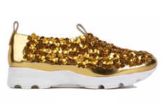 Gilded Botanical Sneakers - These Jeffrey Campbell Shoes Blend Sporty and Stylish Inspiraiton