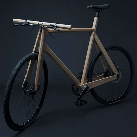 Contemporary Wooden Bicycles - Paul Timmer's Ash Wood Bike is Stylish and Highly Functional