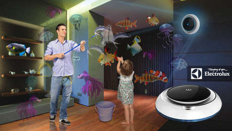 Holographic Fishing Technology - The Hunter-Gatherer Lets You Virtually Catch Your Food for Delivery