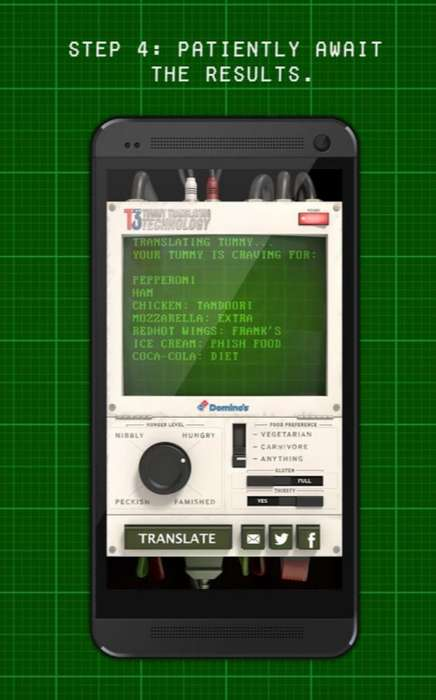 Hunger Translator Apps - This Domino's Pizza App Tells You Exactly What You're Craving