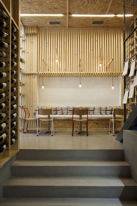 Shipping Crate Cafes - The IT Cafe in Athens was Designed to Reflect Food Packaging
