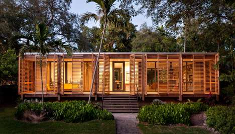 Tropical Modern Residences - The Brillhart House is a Majestic Hand-Built Home is Downtown Miami