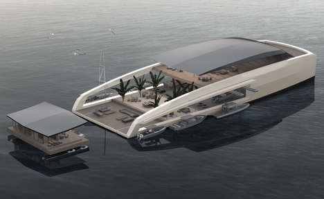 Detachable Superyacht Designs - Studio Pastrovich's X R-Evolution Features Pods That Separate