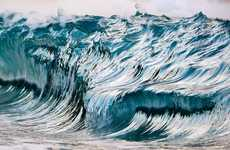 Painterly Ocean Photography - Pierre Carreau's High Speed Camera Captures Brushstroke-Inspired Waves