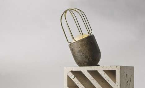 Caged Stone Lamps - A Modern Marble Light Bulb Marries Utility with Sophisticated Design