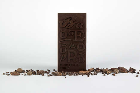 Typographic Chocolate Bars - Berlin University Students Have Created a Textual Snack Range