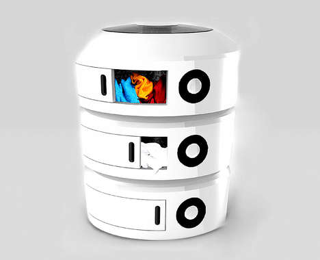Segmented Washing Machines - The Triple Spin Features Smaller Compartments for Clothes Washing
