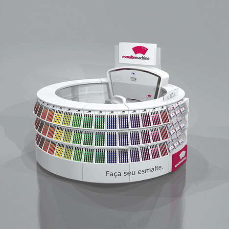Custom Nail Polish Kiosks - The Esmalte Machine Offers Thousands of Nail Polish Color Combinations
