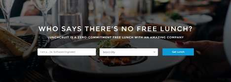 Food-Focused Recruiting Sites - Lunchcruit Pairs Job Seekers with Companies for Free Lunch Dates