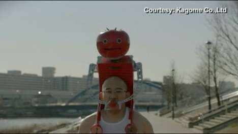 Tomato Robot Machines - The Tomatan is a Bizarre Device That Feeds Athletes Tomatoes on the Go
