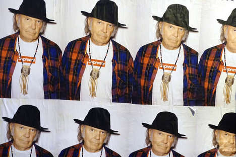 Aging Rocker Ads - The Neil Young Supreme Campaign Launched Ahead of the Spring Collection