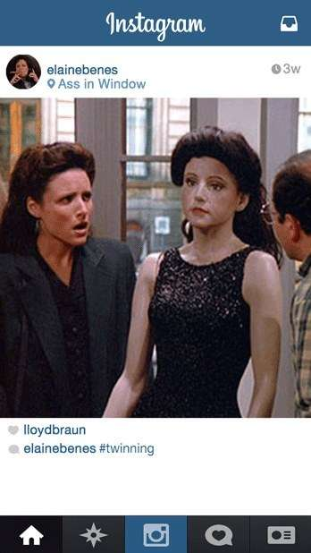 Sitcom Character Instagram Accounts - If Elaine Benes Used Social Media, Hilarity Would Ensue