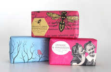Artistic Eco Packaging - Woolworths Contemporary Soaps are Wrapped in Printed Paper