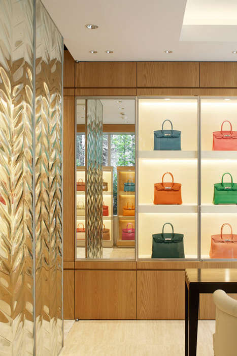 Chevron-Covered Facades - This New L'ecrin Store by Hiroshi Nakamura Resembles a Glass Jewelry Box