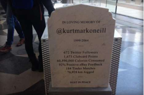Social Media Gravestones - Gravestones of the Future May Include Our Digital Stats