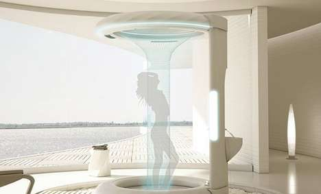 Swanky Waterfall Showers - Rain Soft Setup Lets You Bathe Beneath Dispersed Droplets and Downpours