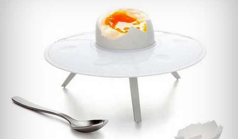 Alien Egg Cups - The Egg 51 Dish Serves Up an Extraterrestrial Spread for Breakfast