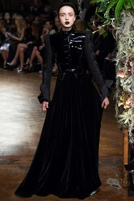 Dramatic Goth Fashion - The Latest Giles Collection Boasts Dramatic and Luxe Elements
