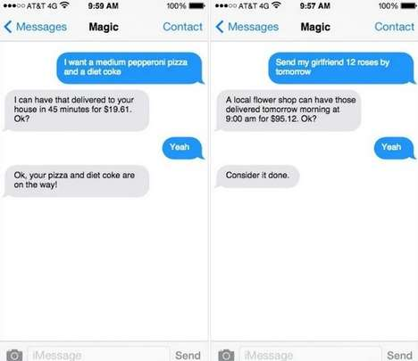 SMS Ordering Services - 'Magic' Ordering Lets You Buy Everything from Food to Flights Via Text