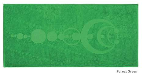 Artistic Alien Towels - The Crop Circle Towel Pays Tribute to Creative Farmers and Extraterrestrials