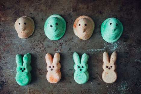 40 Adorable Easter Desserts - From Bunny Eared Macaroons to Easter Candy Kebabs