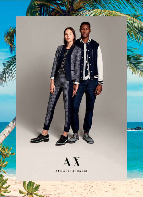 Sporty Vacationwear Catalogs - The Latest Armani Exchange Lookbook Dreams of Warmer Weather