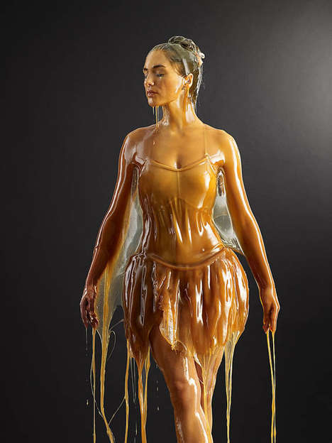 Honey-Covered Models - Photographer Blake Little Creates a Very Sticky Situation for his Muses