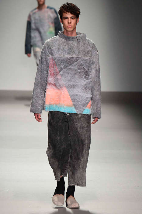 Crafty Decoupage Apparel - The Yushan Li Graduate Collection is Textural and Artistic
