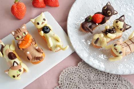 Cute Cat Desserts - Blogger Caroline Creates Adorable Eclairs to Celebrate Japan's Cat Day