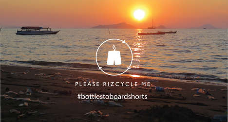 Recycled Plastic Swimwear - The Rhiz Board Shorts Use 100% Recycled Materials from the Ocean's Waste
