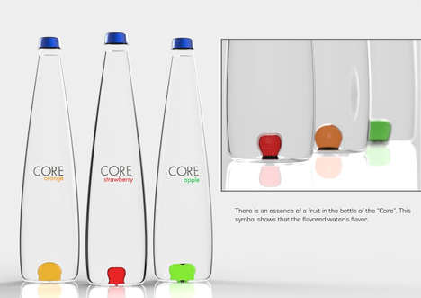 Water-Flavoring Bottles - The Core Flavored Water Bottle Concept Infuses Drinks with Fruity Flavors